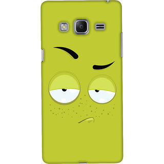 Oyehoye Samsung Galaxy Z3 Mobile Phone Back Cover With Smiley Expression - Durable Matte Finish Hard Plastic Slim Case
