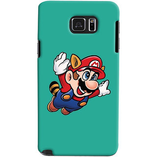 Oyehoye Samsung Galaxy Note 5 Dual Sim / Edge Plus Mobile Phone Back Cover With Super Mario - Durable Matte Finish Hard Plastic Slim Case
