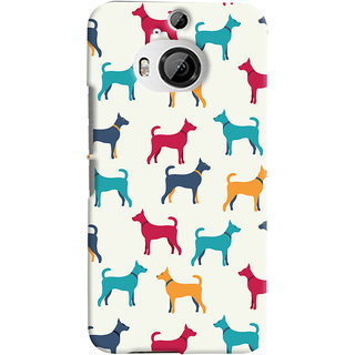 Oyehoye HTC One M9 Plus Mobile Phone Back Cover With Animal Print Pattern Style - Durable Matte Finish Hard Plastic Slim Case