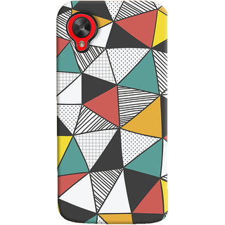 Oyehoye LG Google Nexus 5 Mobile Phone Back Cover With Abstract Style Modern Art - Durable Matte Finish Hard Plastic Slim Case