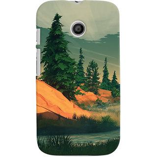 Oyehoye Motorola Moto E Mobile Phone Back Cover With Nature Landscape Travellers Choice - Durable Matte Finish Hard Plastic Slim Case