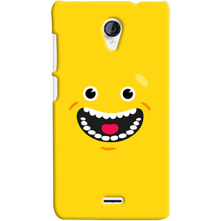 Oyehoye Micromax Unite 2 A106 Mobile Phone Back Cover With Smiley Happy Expression - Durable Matte Finish Hard Plastic Slim Case