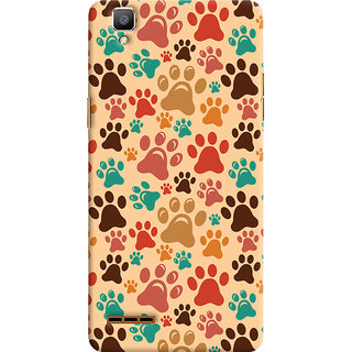 Oyehoye Oppo F1 Mobile Phone Back Cover With Animal Paw Print Pattern Style - Durable Matte Finish Hard Plastic Slim Case