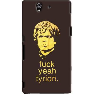Oyehoye Sony Xperia Z Mobile Phone Back Cover With Tyron From Game Of Thrones - Durable Matte Finish Hard Plastic Slim Case