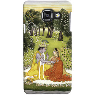 Oyehoye Samsung Galaxy A3 A310 (2016 Edition) Mobile Phone Back Cover With Vintage Radhe Krishna Art - Durable Matte Finish Hard Plastic Slim Case