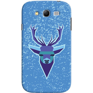 Oyehoye Samsung Galaxy Grand Neo Plus Mobile Phone Back Cover With Animal Design Modern Art - Durable Matte Finish Hard Plastic Slim Case