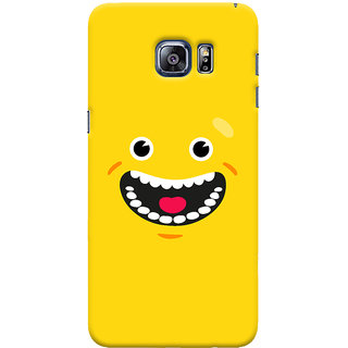 Oyehoye Samsung Galaxy S6 Edge Plus Mobile Phone Back Cover With Smiley Happy Expression - Durable Matte Finish Hard Plastic Slim Case