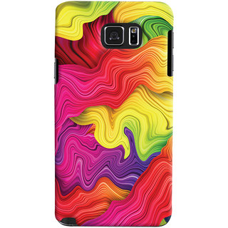 Oyehoye Samsung Galaxy Note 5 Dual Sim / Edge Plus Mobile Phone Back Cover With Colourful Pattern Style - Durable Matte Finish Hard Plastic Slim Case
