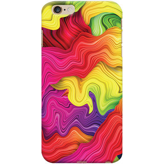 Oyehoye Apple iPhone 6S Plus Mobile Phone Back Cover With Colourful Pattern Style - Durable Matte Finish Hard Plastic Slim Case