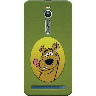 Oyehoye Asus Zenfone 2 ZE550ML Mobile Phone Back Cover With Scooby Doo - Durable Matte Finish Hard Plastic Slim Case
