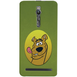 Oyehoye Asus Zenfone 2 ZE551ML Mobile Phone Back Cover With Scooby Doo - Durable Matte Finish Hard Plastic Slim Case