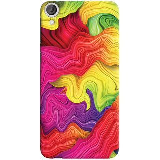 Oyehoye HTC Desire 820 Dual Sim Mobile Phone Back Cover With Colourful Pattern Style - Durable Matte Finish Hard Plastic Slim Case