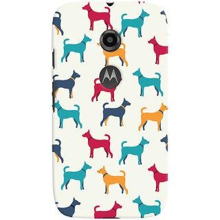 Oyehoye Motorola Moto E2 Mobile Phone Back Cover With Animal Print Pattern Style - Durable Matte Finish Hard Plastic Slim Case