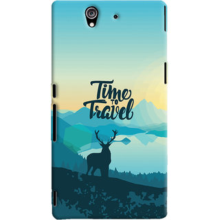 Oyehoye Sony Xperia Z Mobile Phone Back Cover With Travel Quote Travellers Choice - Durable Matte Finish Hard Plastic Slim Case