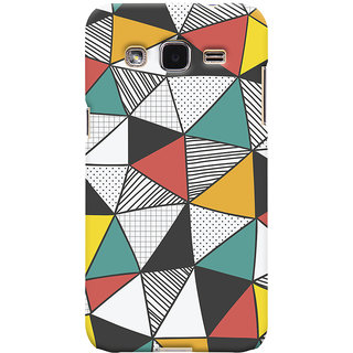 Oyehoye Samsung Galaxy J2 Mobile Phone Back Cover With Abstract Style Modern Art - Durable Matte Finish Hard Plastic Slim Case