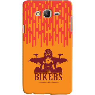 Oyehoye Samsung Galaxy ON7 Mobile Phone Back Cover With Bikers Style - Durable Matte Finish Hard Plastic Slim Case