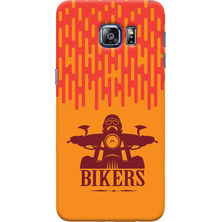 Oyehoye Samsung Galaxy S6 Edge Mobile Phone Back Cover With Bikers Style - Durable Matte Finish Hard Plastic Slim Case