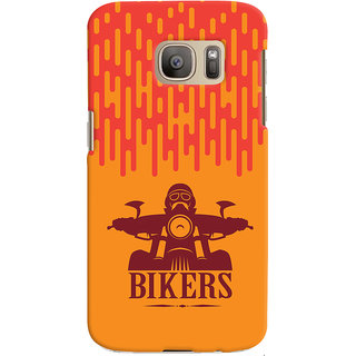 Oyehoye Samsung Galaxy S7 Mobile Phone Back Cover With Bikers Style - Durable Matte Finish Hard Plastic Slim Case