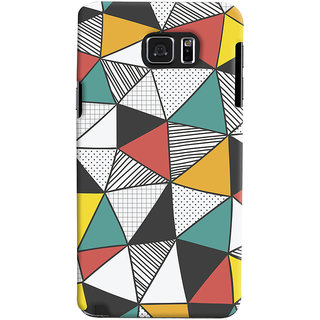 Oyehoye Samsung Galaxy Note 5 Dual Sim / Edge Plus Mobile Phone Back Cover With Abstract Style Modern Art - Durable Matte Finish Hard Plastic Slim Case