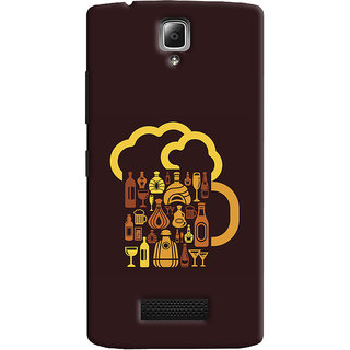 Oyehoye Lenovo A2010 Mobile Phone Back Cover With Abstract Art - Durable Matte Finish Hard Plastic Slim Case