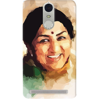 Oyehoye Lenovo K5 Note Mobile Phone Back Cover With Lata Mangeshkar - Durable Matte Finish Hard Plastic Slim Case