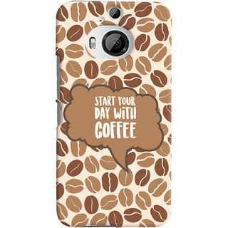 Oyehoye HTC One M9 Plus Mobile Phone Back Cover With Coffee Beans Pattern Style - Durable Matte Finish Hard Plastic Slim Case