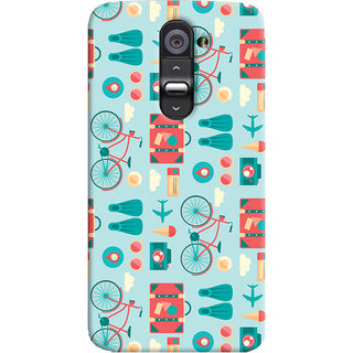 Oyehoye LG G2 / Optimus G2 Mobile Phone Back Cover With Holidays Pattern Style - Durable Matte Finish Hard Plastic Slim Case
