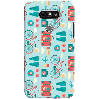 Oyehoye LG G5 / Optimus G5 Mobile Phone Back Cover With Holidays Pattern Style - Durable Matte Finish Hard Plastic Slim Case