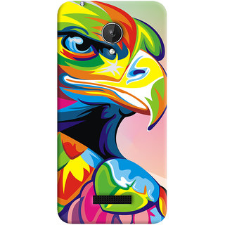 Oyehoye Micromax Canvas Spark Q380 Mobile Phone Back Cover With Animal Art - Durable Matte Finish Hard Plastic Slim Case