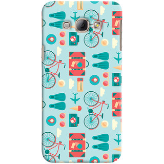 Oyehoye Samsung Galaxy A8 (2015) Mobile Phone Back Cover With Holidays Pattern Style - Durable Matte Finish Hard Plastic Slim Case