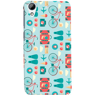 Oyehoye HTC Desire 626 / 626 G Plus Mobile Phone Back Cover With Holidays Pattern Style - Durable Matte Finish Hard Plastic Slim Case