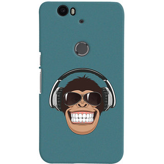 Oyehoye Huawei Google Nexus 6P Mobile Phone Back Cover With Music Lover Quirky Style - Durable Matte Finish Hard Plastic Slim Case