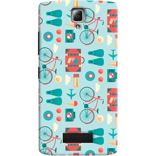 Oyehoye Lenovo A2010 Mobile Phone Back Cover With Holidays Pattern Style - Durable Matte Finish Hard Plastic Slim Case
