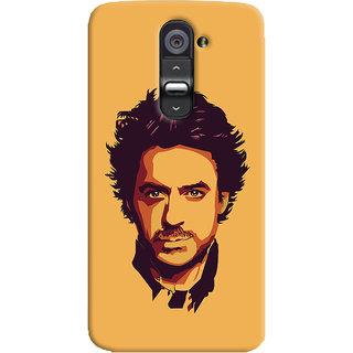 Oyehoye LG G2 / Optimus G2 Mobile Phone Back Cover With Robert Downey Jr. - Durable Matte Finish Hard Plastic Slim Case