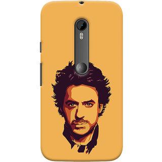 Oyehoye Motorola Moto G3 Mobile Phone Back Cover With Robert Downey Jr. - Durable Matte Finish Hard Plastic Slim Case