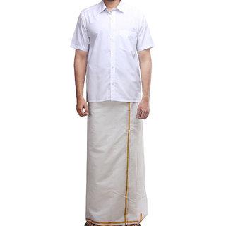 Mens Dhoti With Half Sleeves Shirts
