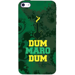 Oyehoye Apple iPhone 4S Mobile Phone Back Cover With Dum Maro Dum Quirky - Durable Matte Finish Hard Plastic Slim Case