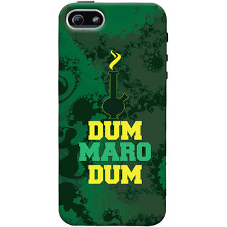 Oyehoye Apple iPhone 5 Mobile Phone Back Cover With Dum Maro Dum Quirky - Durable Matte Finish Hard Plastic Slim Case
