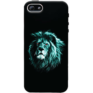 Oyehoye Apple iPhone 5 Mobile Phone Back Cover With Lion Animal Art - Durable Matte Finish Hard Plastic Slim Case