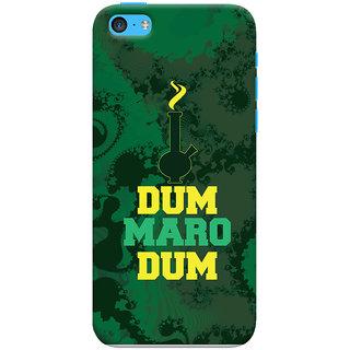 Oyehoye Apple iPhone 5S Mobile Phone Back Cover With Dum Maro Dum Quirky - Durable Matte Finish Hard Plastic Slim Case