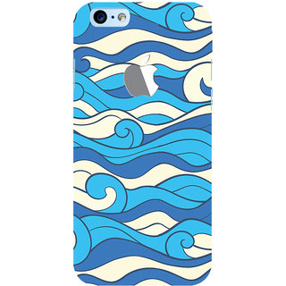 Oyehoye New Apple iPhone 6 with Logo Mobile Phone Back Cover With Pattern Style - Durable Matte Finish Hard Plastic Slim Case