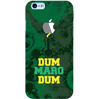 Oyehoye New Apple iPhone 6 with Logo Mobile Phone Back Cover With Dum Maro Dum Quirky - Durable Matte Finish Hard Plastic Slim Case