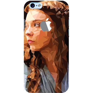 Oyehoye New Apple iPhone 6 with Logo Mobile Phone Back Cover With Low Poly Art - Durable Matte Finish Hard Plastic Slim Case