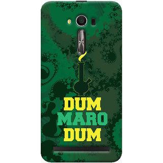 Oyehoye Asus Zenfone 2 Laser ZE550KL / Zenfone 5.5 Mobile Phone Back Cover With Dum Maro Dum Quirky - Durable Matte Finish Hard Plastic Slim Case