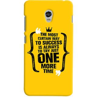 Oyehoye Lenovo Vibe P1 Turbo Mobile Phone Back Cover With Success Motivational Quote - Durable Matte Finish Hard Plastic Slim Case