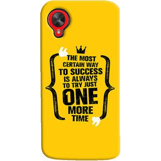 Oyehoye LG Google Nexus 5 Mobile Phone Back Cover With Success Motivational Quote - Durable Matte Finish Hard Plastic Slim Case
