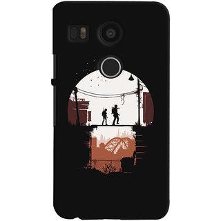 Oyehoye LG Google Nexus 5X Mobile Phone Back Cover With Travellers Quirky - Durable Matte Finish Hard Plastic Slim Case