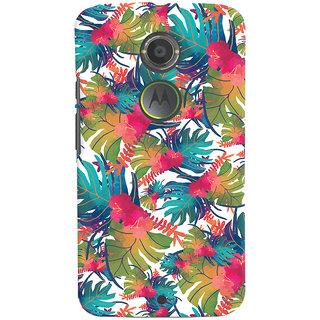 Oyehoye Motorola Moto X2 Mobile Phone Back Cover With Colourful Abstract Art - Durable Matte Finish Hard Plastic Slim Case