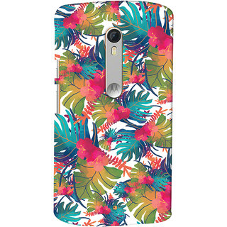 Oyehoye Motorola Moto X Style Mobile Phone Back Cover With Colourful Abstract Art - Durable Matte Finish Hard Plastic Slim Case