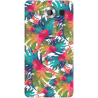 Oyehoye Microsoft Lumia 950 Mobile Phone Back Cover With Colourful Abstract Art - Durable Matte Finish Hard Plastic Slim Case